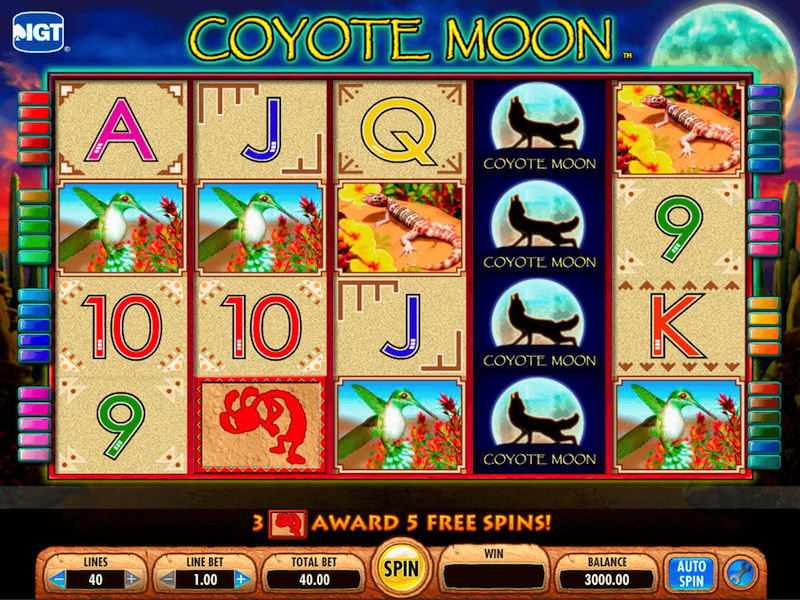 Coyote Moon Slots Machine