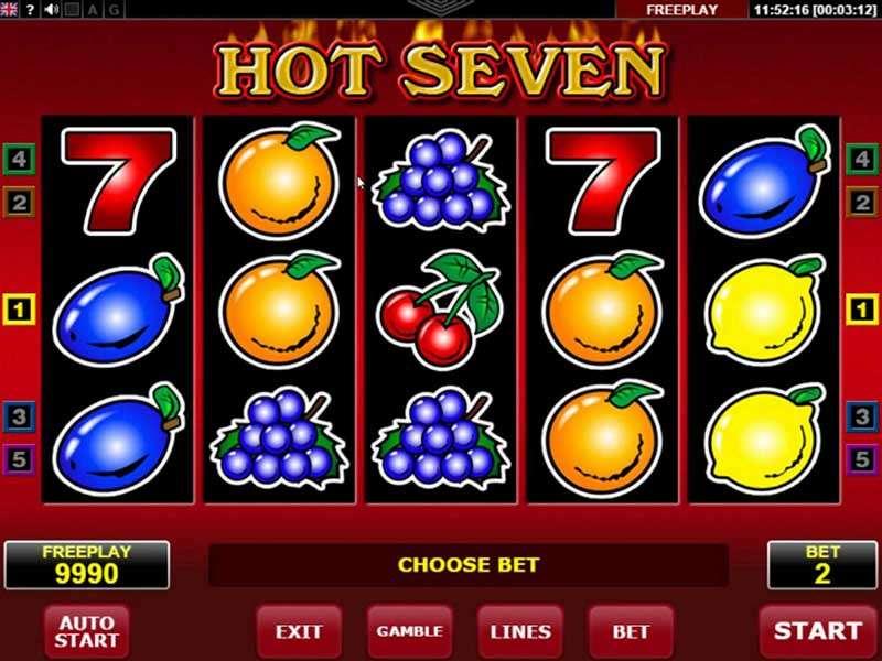 Hot Seven Slot Machine