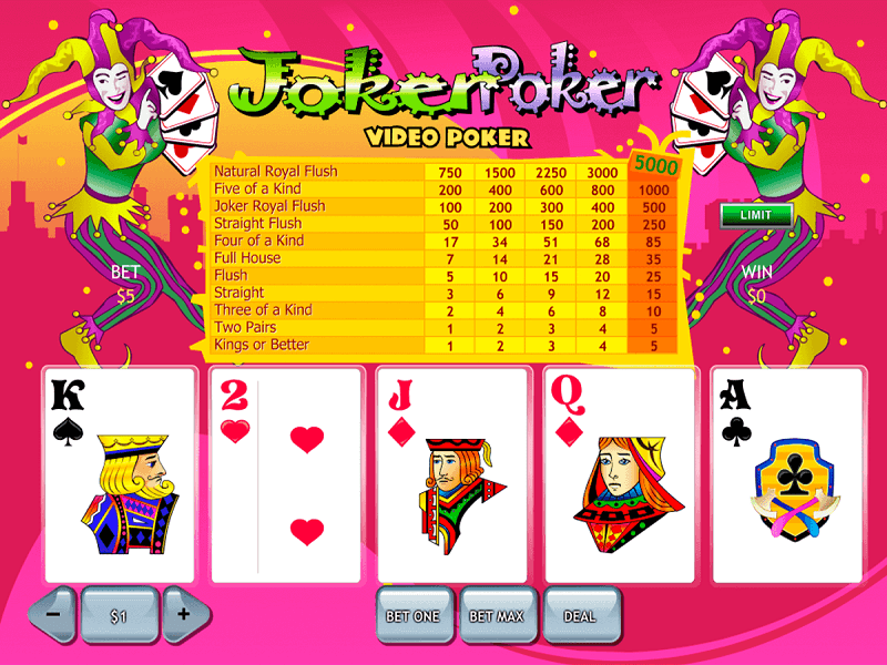 Joker Poker Video Poker Slot