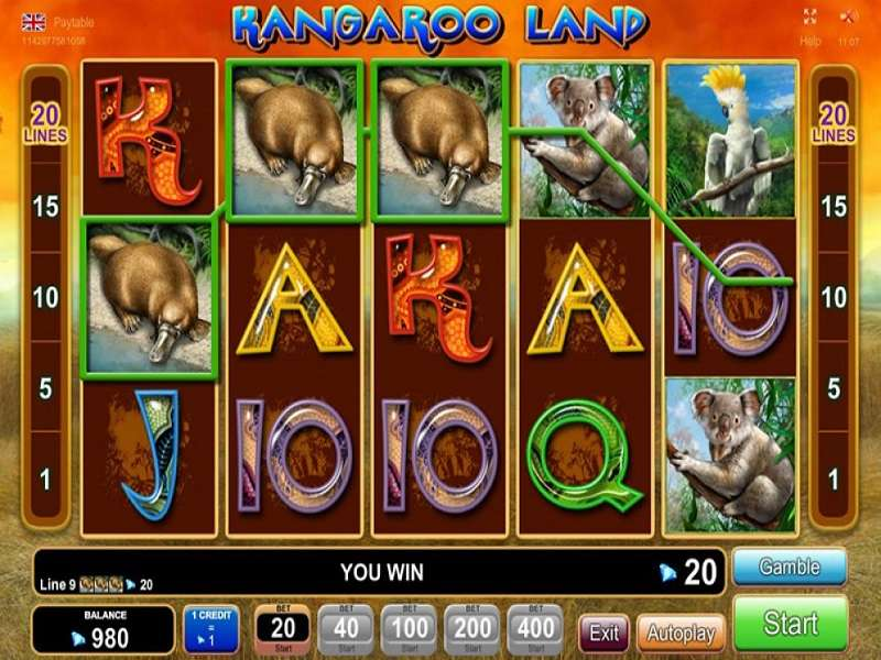 Kangaroo Land Slot Machine