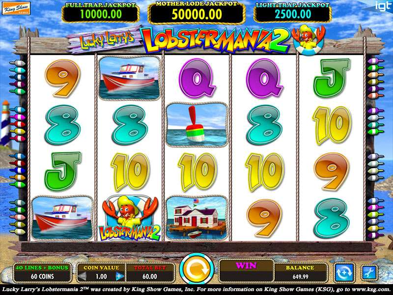 Lucky Larry's Lobstermania 2 Slots