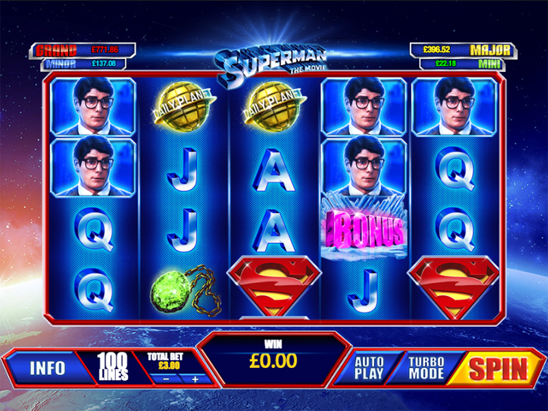 Superman The Movie Slots