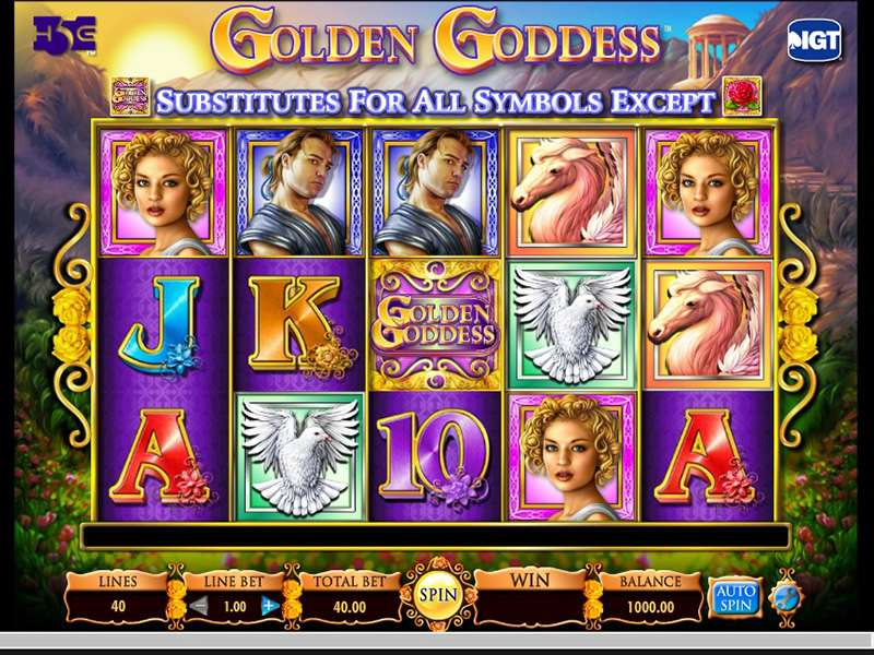 Golden Goddess Slots Machine